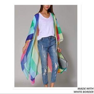 Other - Rainbow Kimono Cardigan